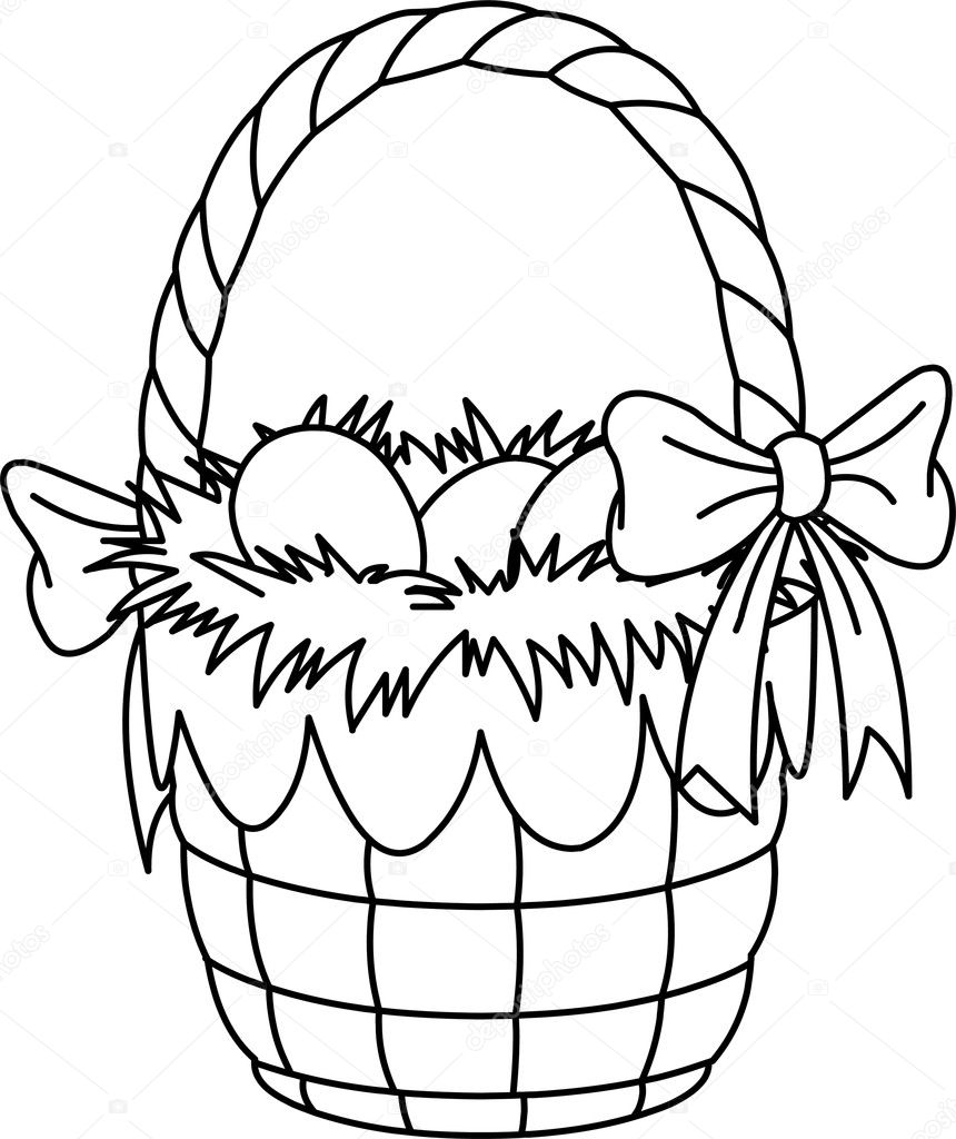 860x1024 Easter Egg Basket Coloring Pages With Easter Basket Coloring