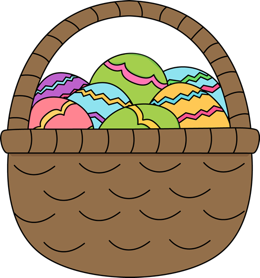 515x550 easter basket filled with easter eggs easter clip art easter