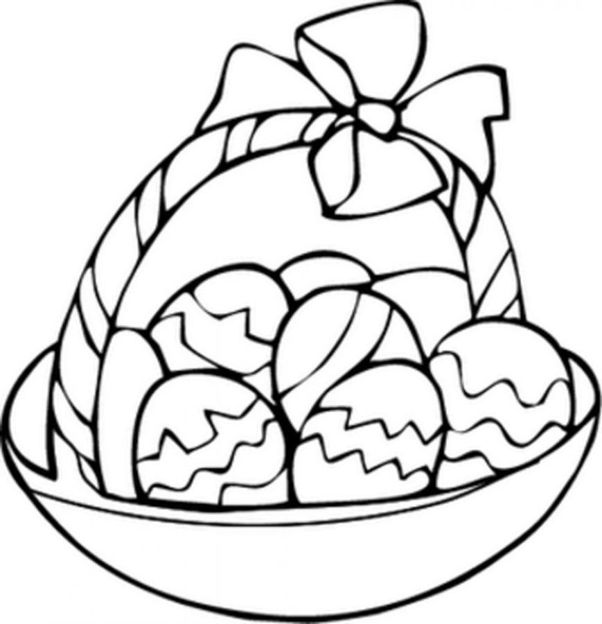 869x900 Egg Basket Coloring