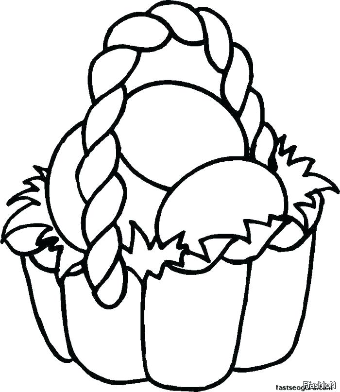 700x807 Egg Basket Coloring Pages Easter