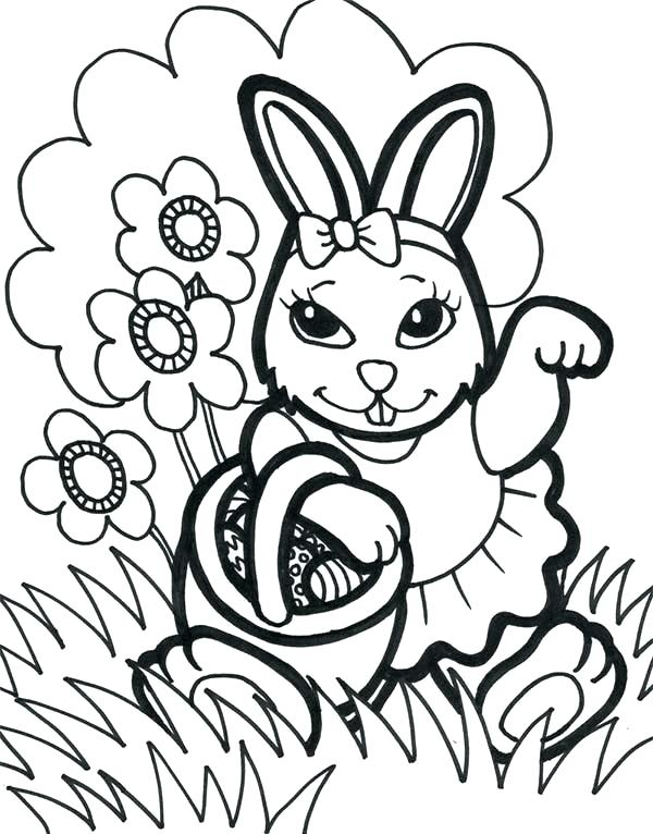 600x766 Coloring Pages Of Easter Eggs And Bunnies