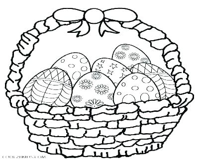 400x322 Easter Egg Basket Coloring Pages
