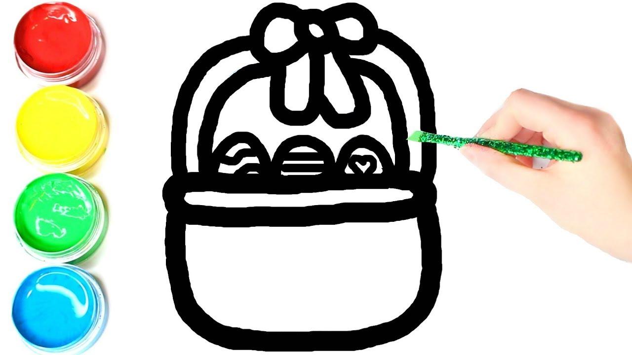 1280x720 Glitter Easter Egg Basket Coloring