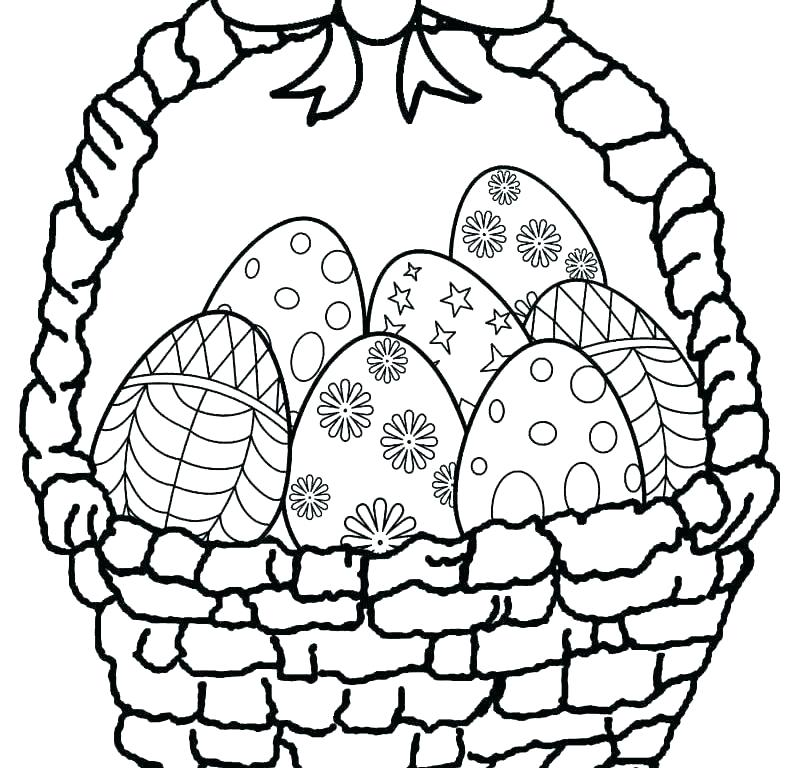 800x768 Coloring Pages For Easter Kids Coloring Pages Eggs Easter Basket
