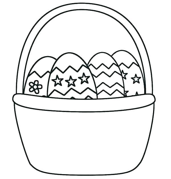 600x628 Easter Basket Coloring Pages Elegant Egg Coloring