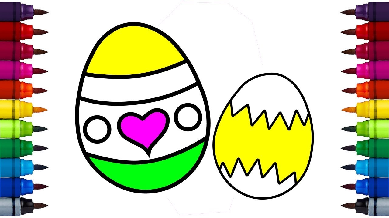 1280x720 how to draw surprise easter egg coloring pages easter egg