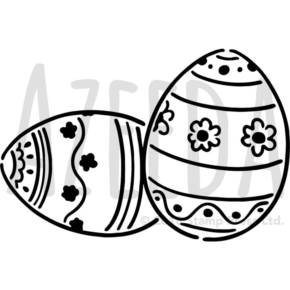 1000x1000 Azeeda 'easter Eggs' Wall Stencil Template