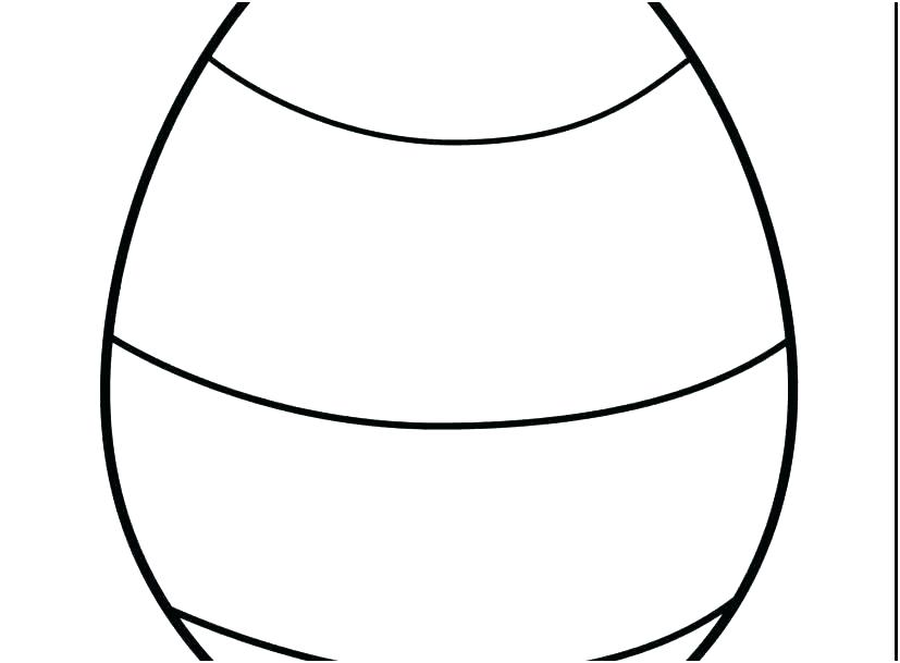 827x609 Printable Egg Template Blank Easter Pattern