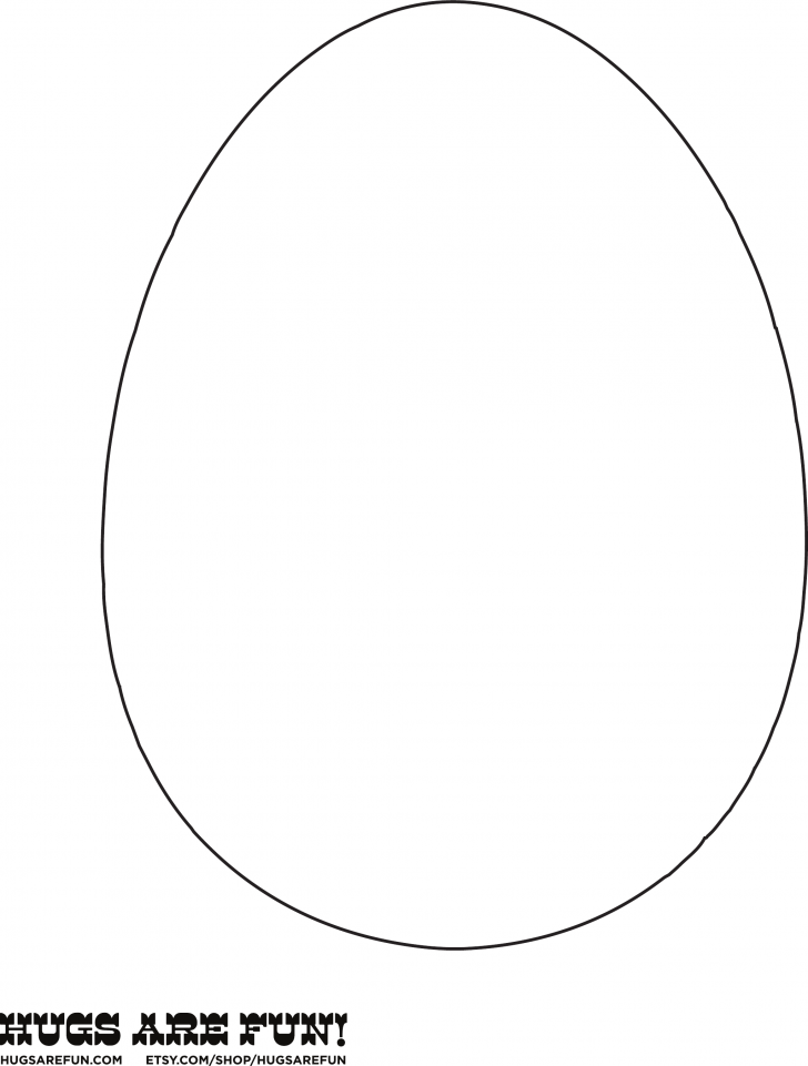 728x961 Easter Egg Template Free