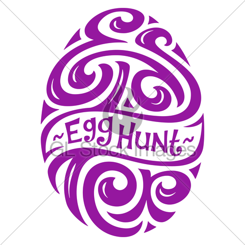 500x500 Easter Egg Hunt Lettering Gl Stock Images