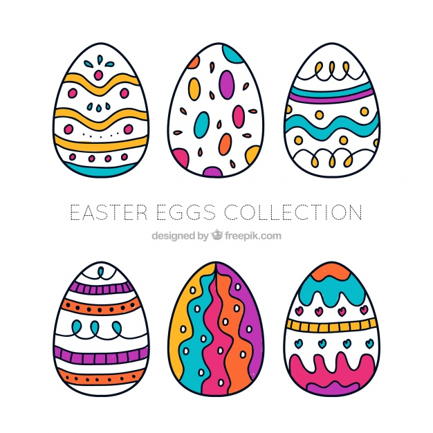 626x626 Hand Drawn Easter Egg Collection Vector Free Download