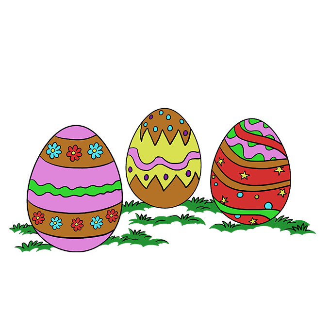 680x678 How To Draw Easter Eggs