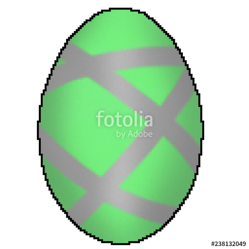 500x500 Pixel Bit Drawn Colorfully Designed Easter Egg Stock Photo