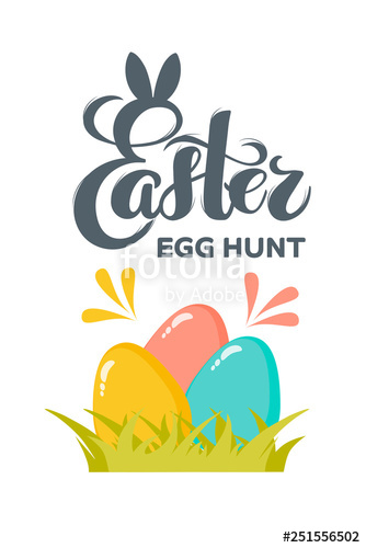 334x500 Vector Flat Easter Eggs With Hand Drawn Text Easter Egg Hunt