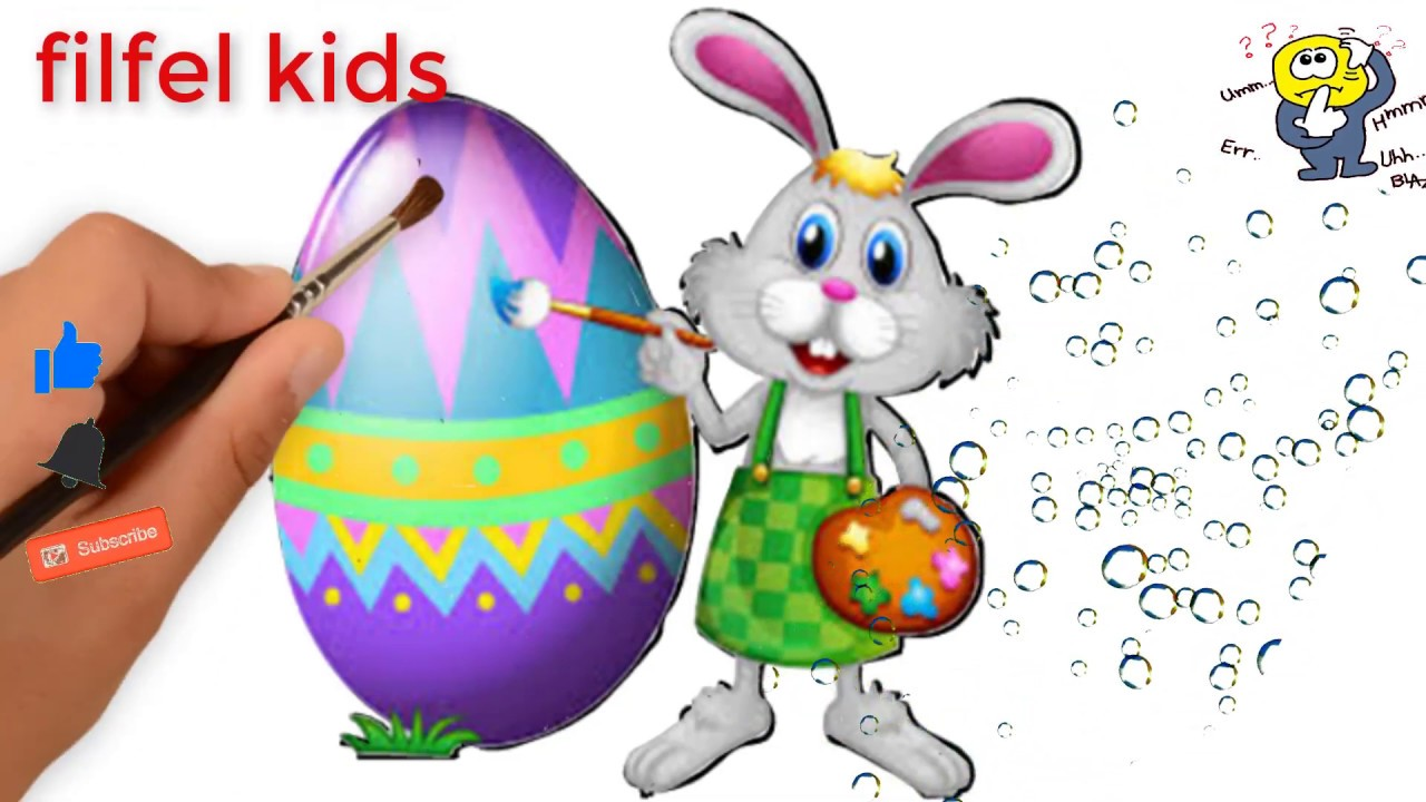 1280x720 Draw Easter Pictures Draw Easter Egg Draw Easter Bunny Simple
