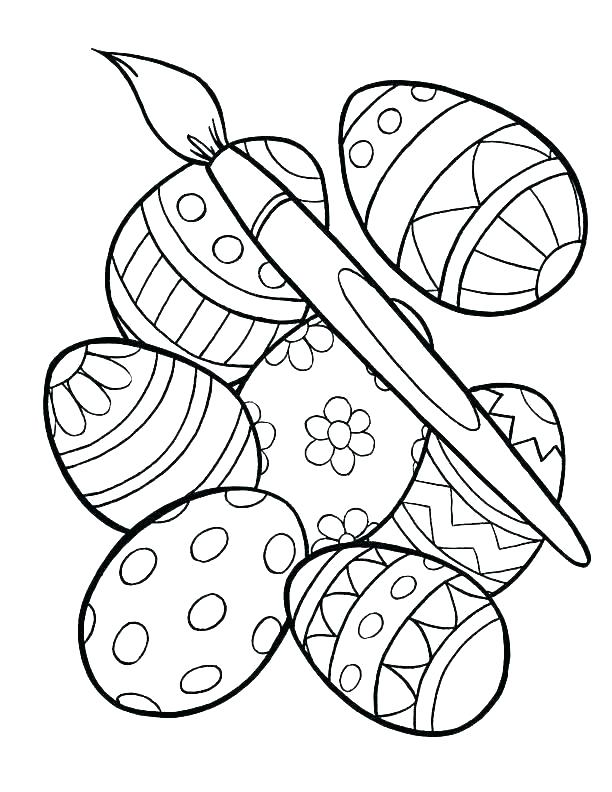612x792 Easter Egg Hunt Coloring Pages Religious Colouring Sheets