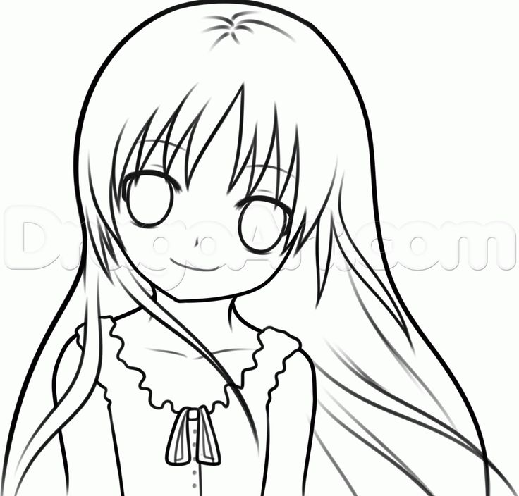 736x704 Guy Lineart Easy Anime For Free Download