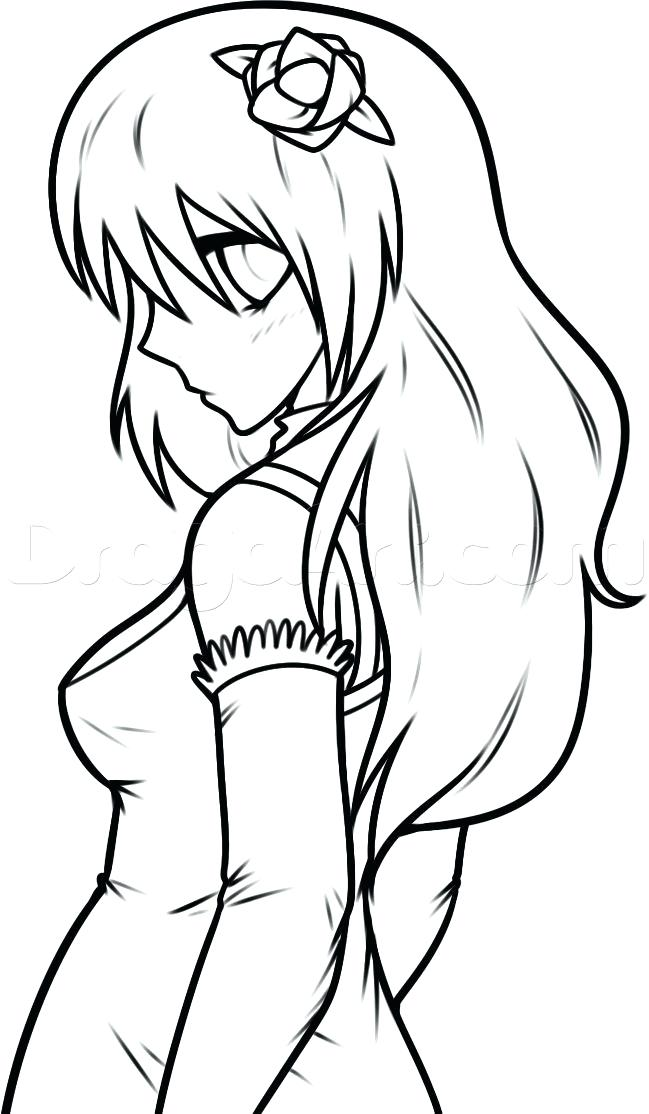 649x1114 Easy Drawing Of A Girl Easy Drawing Of A Girl Face Step