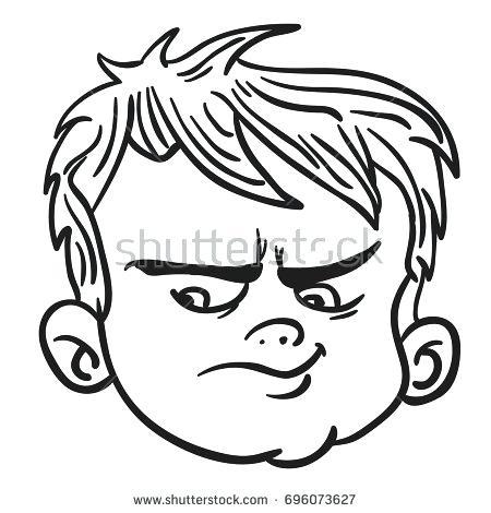 450x470 Drawing Of Boy Face Running
