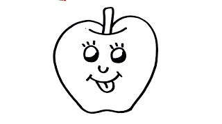 Easy Apple Drawing