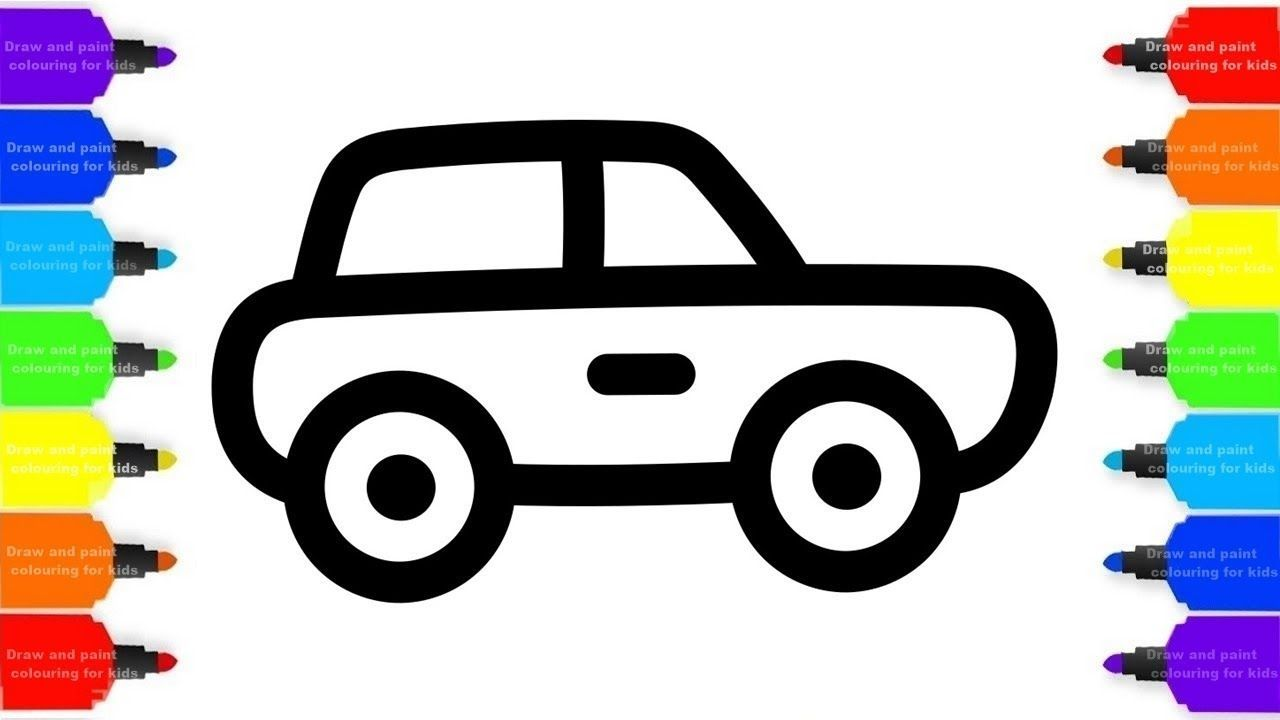Easy Car Drawing For Kid Free Download Best Easy Car