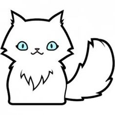 Easy Cat Drawing For Kids