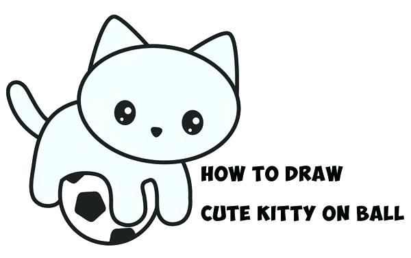 600x377 Easy Kitten Drawings How To Draw A Kitten Step