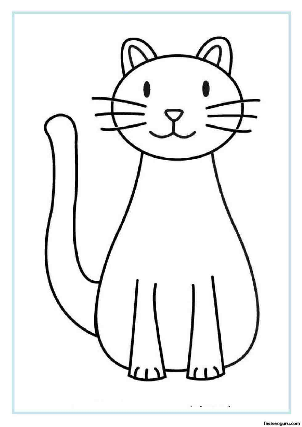980x1386 Cat Sketch Images For Kids