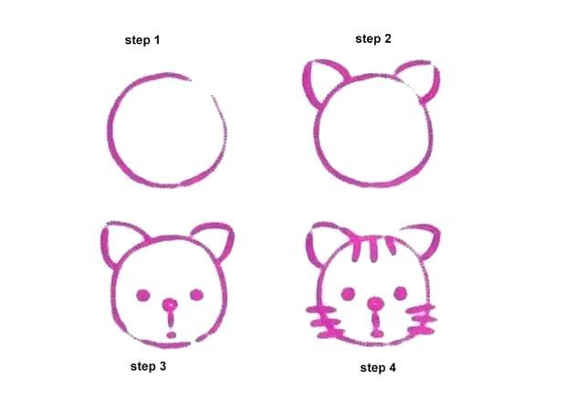 620x438 Draw Cat Step