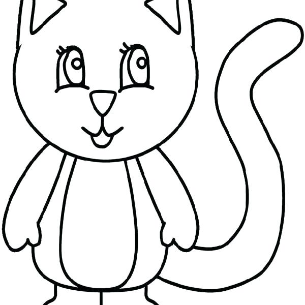 600x600 Draw A Simple Cat Step Draw Simple Cat Clipart