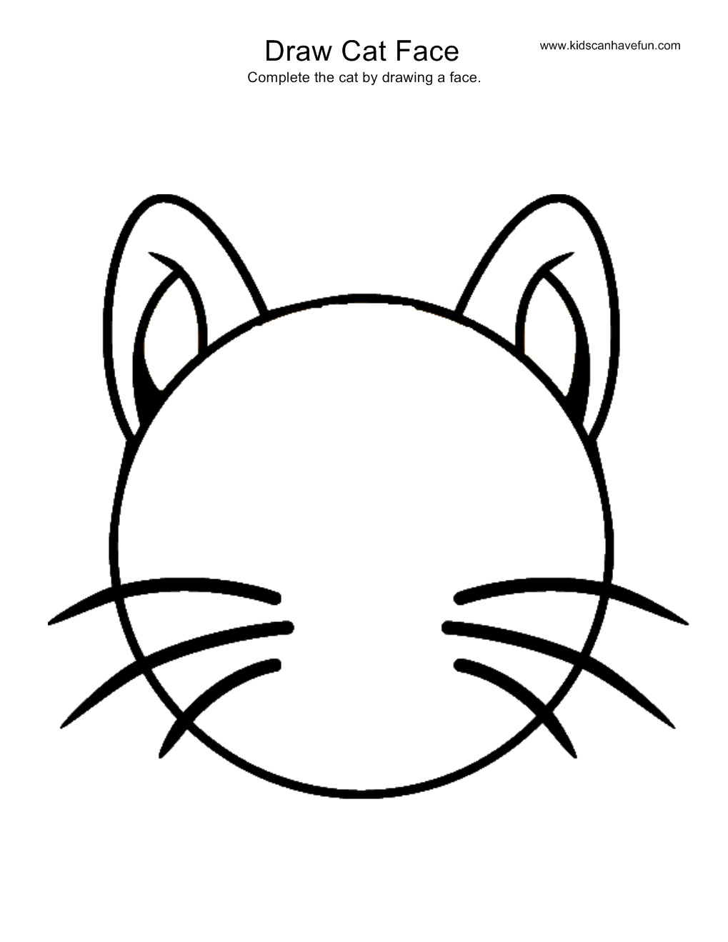 1019x1319 Draw Cat Face Drawing Sketch Template Drawings Easy
