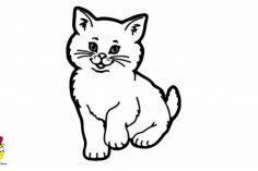 236x157 Drawing A Cat Face For Halloween Easy Kitty Cute Simple Color