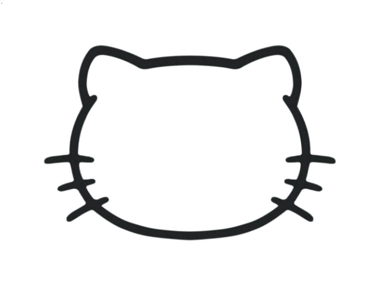 772x568 Kitty Face Drawing Kitty Face Line Drawing