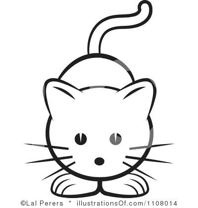 400x420 Outline Of Cat Face Ways To Draw A Kitten Black Drawing Template