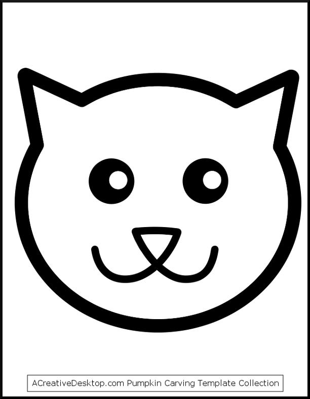 612x789 Cat Pumpkin Stencil Free Cat Templates, Stencils, And Cat
