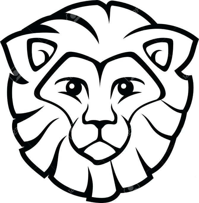 671x685 Easy To Draw Lion Coloring Pages Easy Drawing Of A Lion How