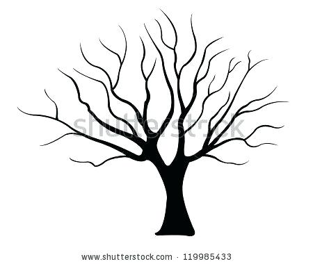 450x380 easy way to draw a tree dead tree drawing dead easy christmas tree