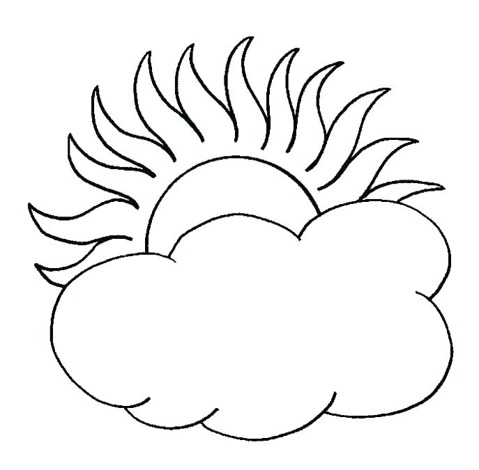 687x675 coloring pages clouds clouds coloring