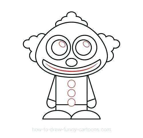 500x483 easy clown drawings scary clown drawing s s scary clown drawing