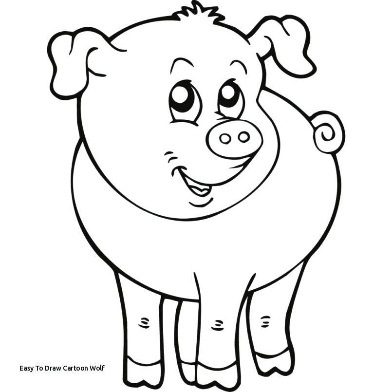 805x805 Easy Cartoon Animals To Draw Easy To Draw Cartoon Wolf Cute