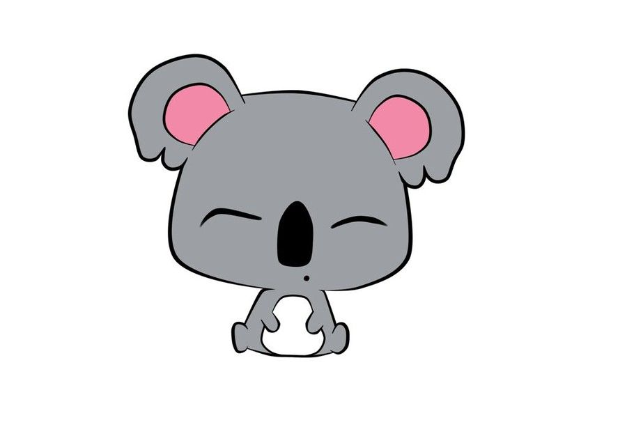 900x636 Collection Of Koala Drawing Easy Cute Headed Cute Koala