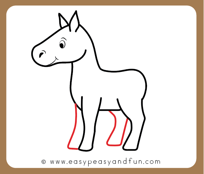 702x598 How To Draw A Horse Step
