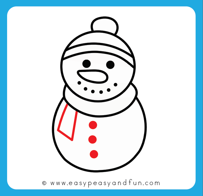 686x662 How To Draw A Snowman