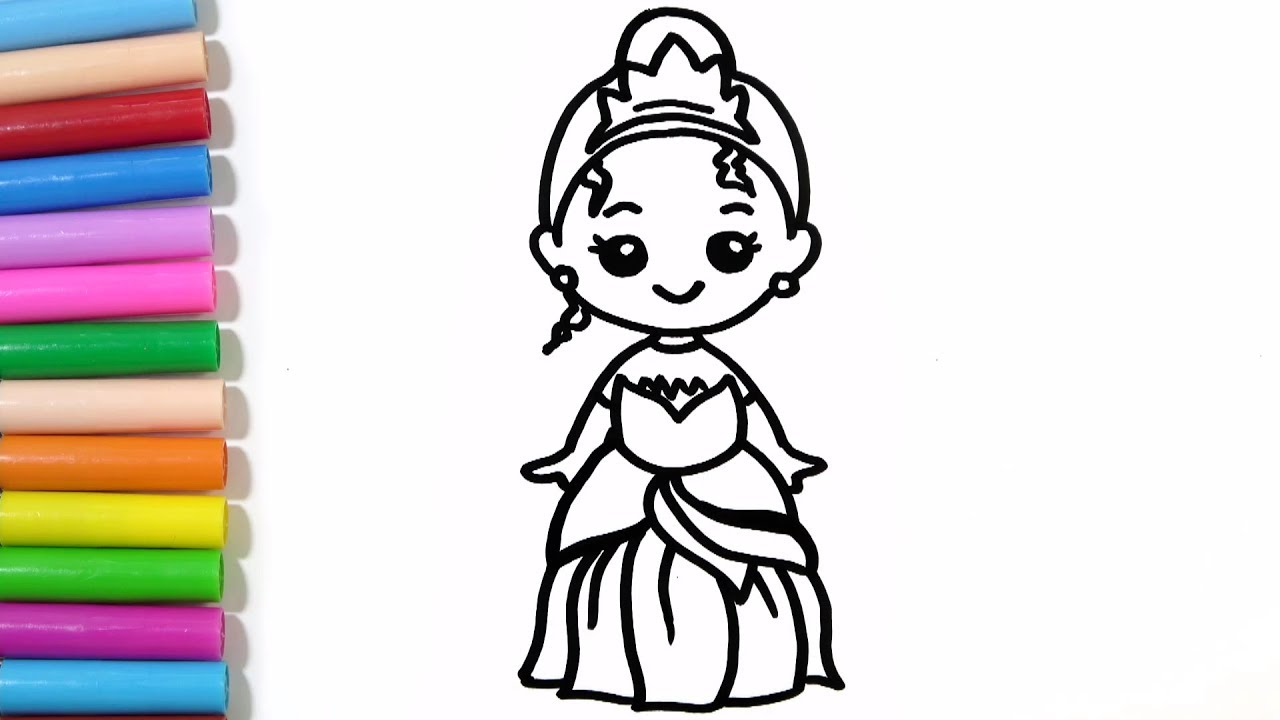1280x720 How To Draw Disney Princess Tiana Cute And Easy Hde