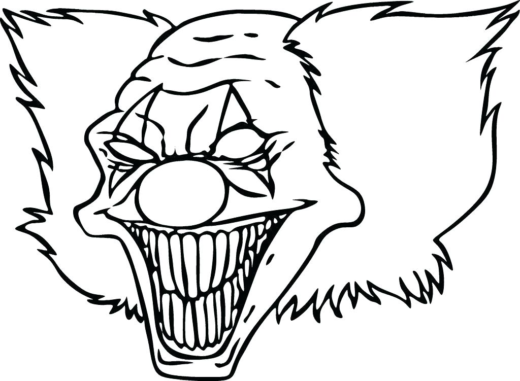1024x751 Coloring Pages For Kids Disney Princesses Adults Clown Scary
