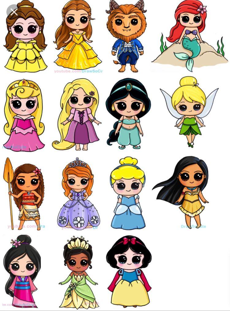 750x1015 Disney Princess Draw So Cutes So Good In Cute Kawaii