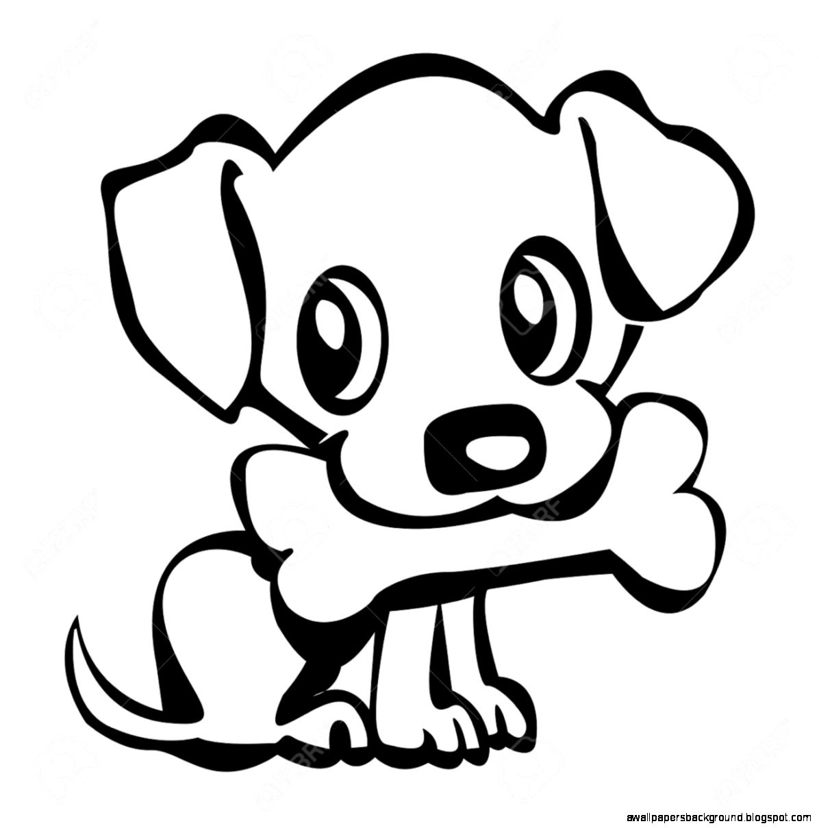 Easy Dog Drawing For Kids   Free download on ClipArtMag