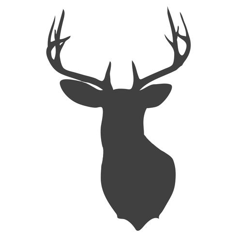 490x490 Huge Collection Of 'how To Draw A Deer Head Silhouette' Download