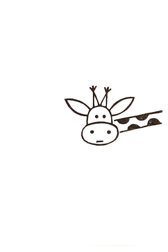 570x855 Easy Deer Drawing