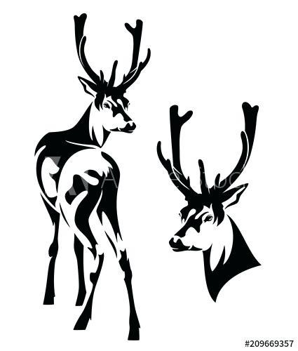 425x500 Deer Outline Easy Drawings Of Deer